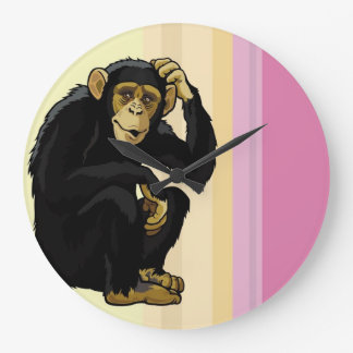 chimpanzee large clock