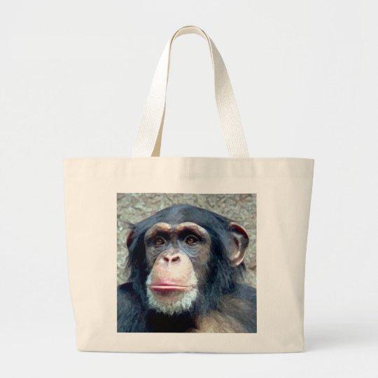 Chimpanzee Large Tote Bag