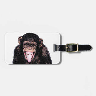 Chimpanzee Luggage Tag
