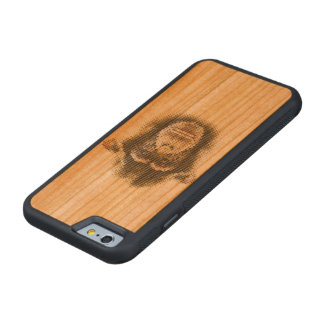Chimpanzee marries carved cherry iPhone 6 bumper case