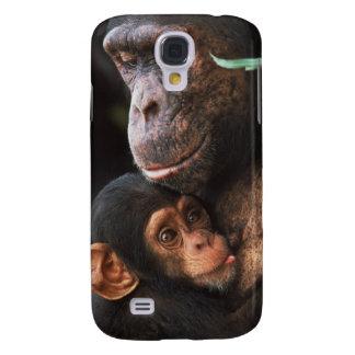 Chimpanzee Mother Nurturing Baby Galaxy S4 Covers