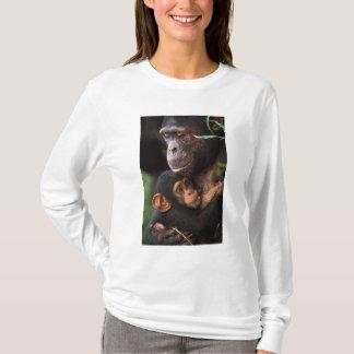 Chimpanzee Mother Nurturing Baby T-Shirt