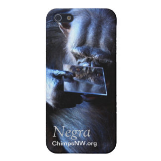 Chimpanzee Negra iPhone 5/5S Case