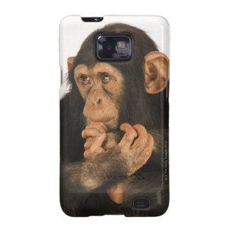 Chimpanzee (Pan troglodytes). Young playfull 2 Samsung Galaxy S2 Case