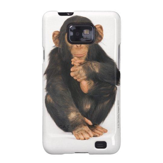 Chimpanzee (Pan troglodytes). Young playfull Samsung Galaxy SII Cover
