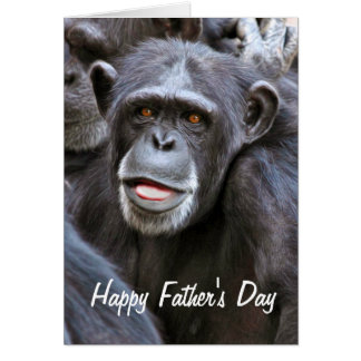 Chimpanzee Photo Happy Father's Day Card