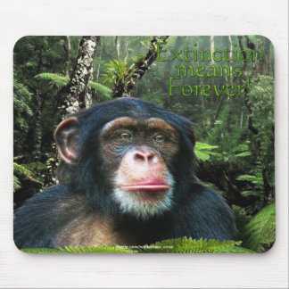 Chimpanzee & Rainforest Wildlife-support Mousepad