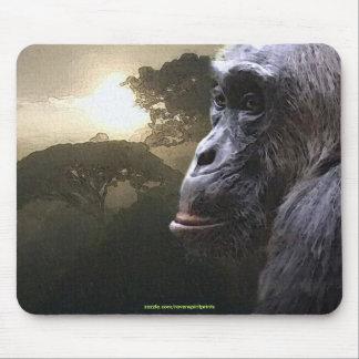 Chimpanzee, Rainforest Wildlife-support Mousepad