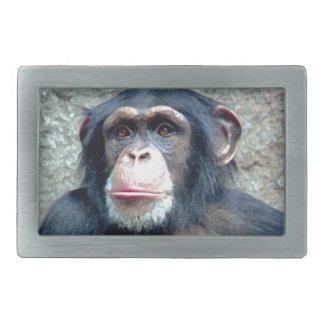 Chimpanzee Rectangular Belt Buckle