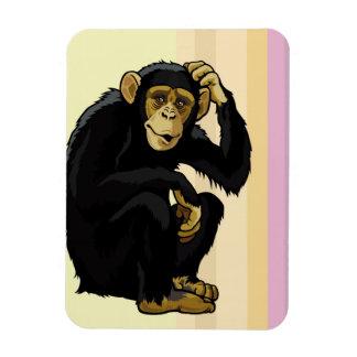 chimpanzee rectangular photo magnet