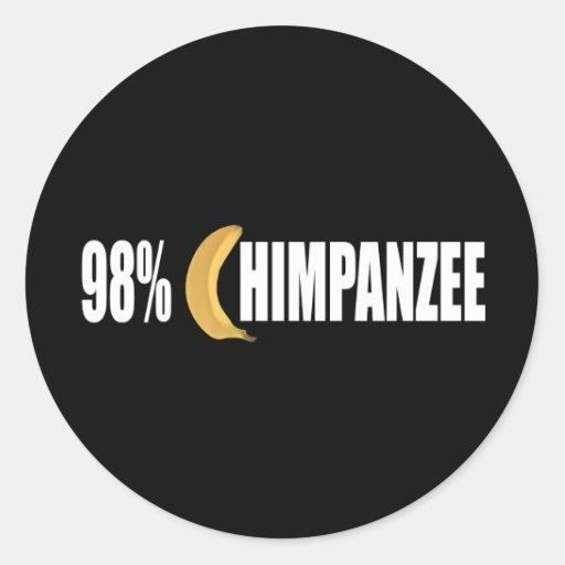 Chimpanzee Round Sticker