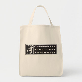 Chimpanzee Sanctuary Northwest Classic Logo Tote Grocery Tote Bag