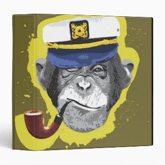 Chimpanzee Smoking Pipe Vinyl Binder