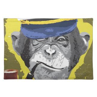 Chimpanzee Smoking Pipe Cloth Place Mat