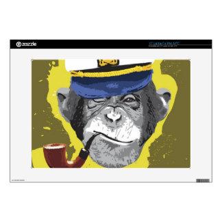 """Chimpanzee Smoking Pipe Skins For 15"""" Laptops"""