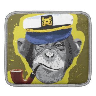 Chimpanzee Smoking Pipe Sleeve For iPads
