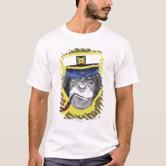 Chimpanzee Smoking Pipe T-Shirt