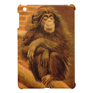 Chimpanzee Vintage Magic Lantern Slide 1890s iPad Mini Covers