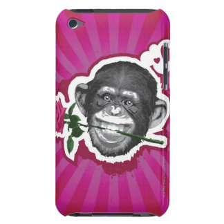 Chimpanzee with a Rose in his Mouth iPod Touch Case