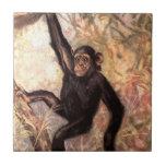 chimpanzeehangingintree002_original small square tile