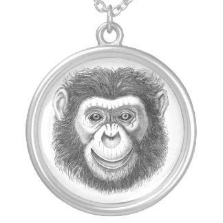 ChimpanzeeNEW Round Pendant Necklace