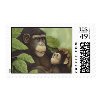 Chimpanzees Postage