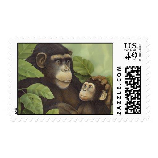 Chimpanzees Stamp