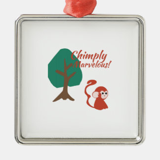 Chimply Marvelous Square Metal Christmas Ornament