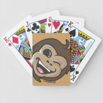 Chimpsee  Cute Monkey Adorable Face Bicycle Playing Cards