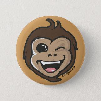 Chimpsee  Cute Monkey Adorable Face Button