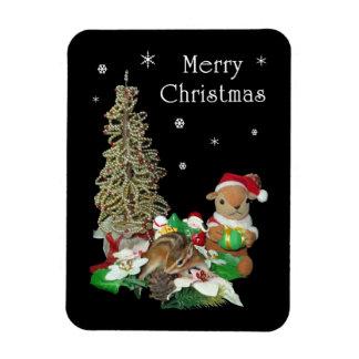 Chimunk's Christmas , シマリスのクリスマス . Premium Magnet