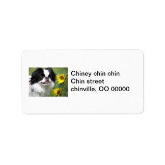 Chin Address Labels
