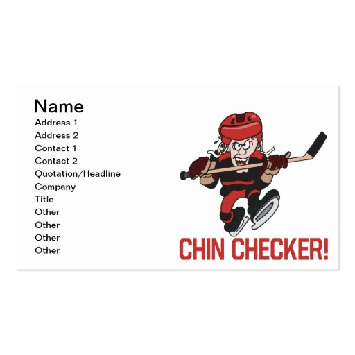 Chin Checker Double-Sided Standard Business Cards (Pack Of 100)