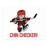 Chin Checker Postcard
