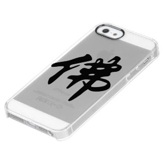 Chin. Sign / Character BUDDHA - flat black Clear iPhone SE/5/5s Case