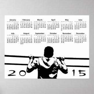 Chin Up 2015 Wall Calendar Poster