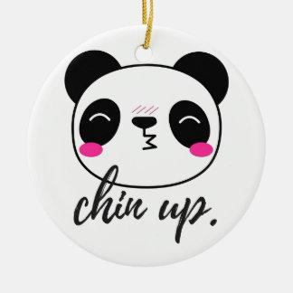 Chin Up Ceramic Ornament