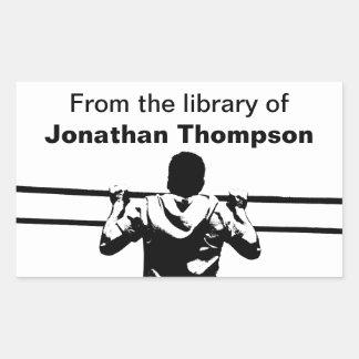 Chin Up Custom Bookplate Rectangular Sticker