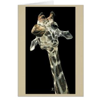 """""""Chin Up"""" - Giraffe Card"""