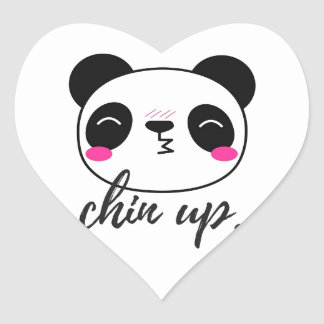 Chin Up Heart Sticker