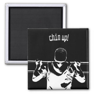 Chin Up! 2 Inch Square Magnet