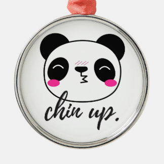 Chin Up Metal Ornament