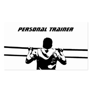 Chin Up Personal Trainer Business Card