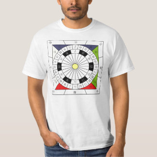 China 24 Cardinal Directional Compass T-Shirt