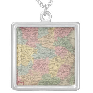China 8 square pendant necklace