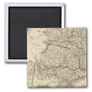 China And Burmah 2 Inch Square Magnet
