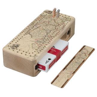 China And Burmah Maple Cribbage Board