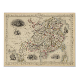 China And Burmah Print