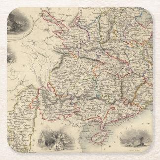 China And Burmah Square Paper Coaster
