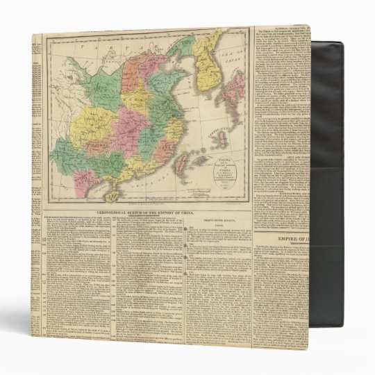 China and Japan Atlas Map 3 Ring Binder